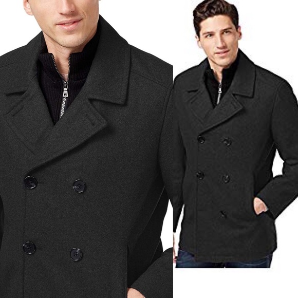 purchase newest new high quality cheap for sale INC International Concepts Double-Breasted Peacoat NWT